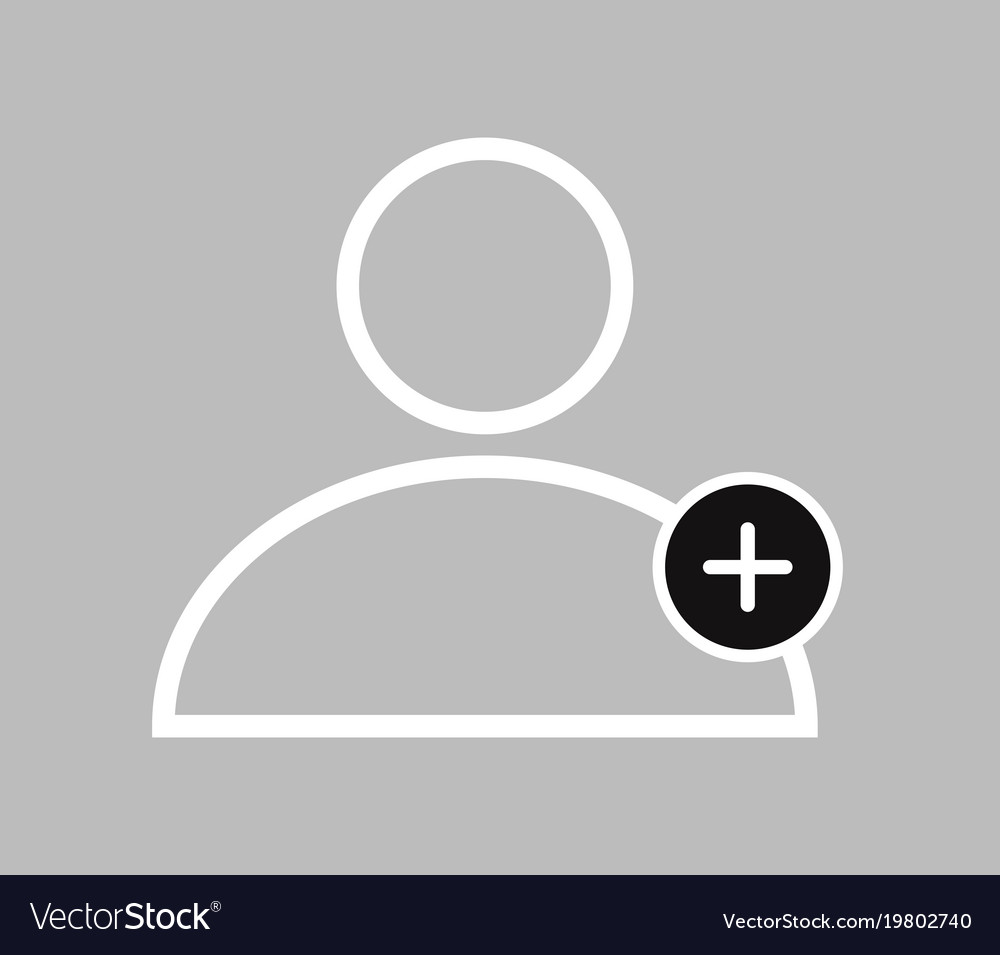 Icon add people on white background
