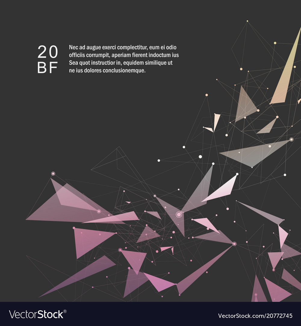 Abstract color triangle shape on dark background