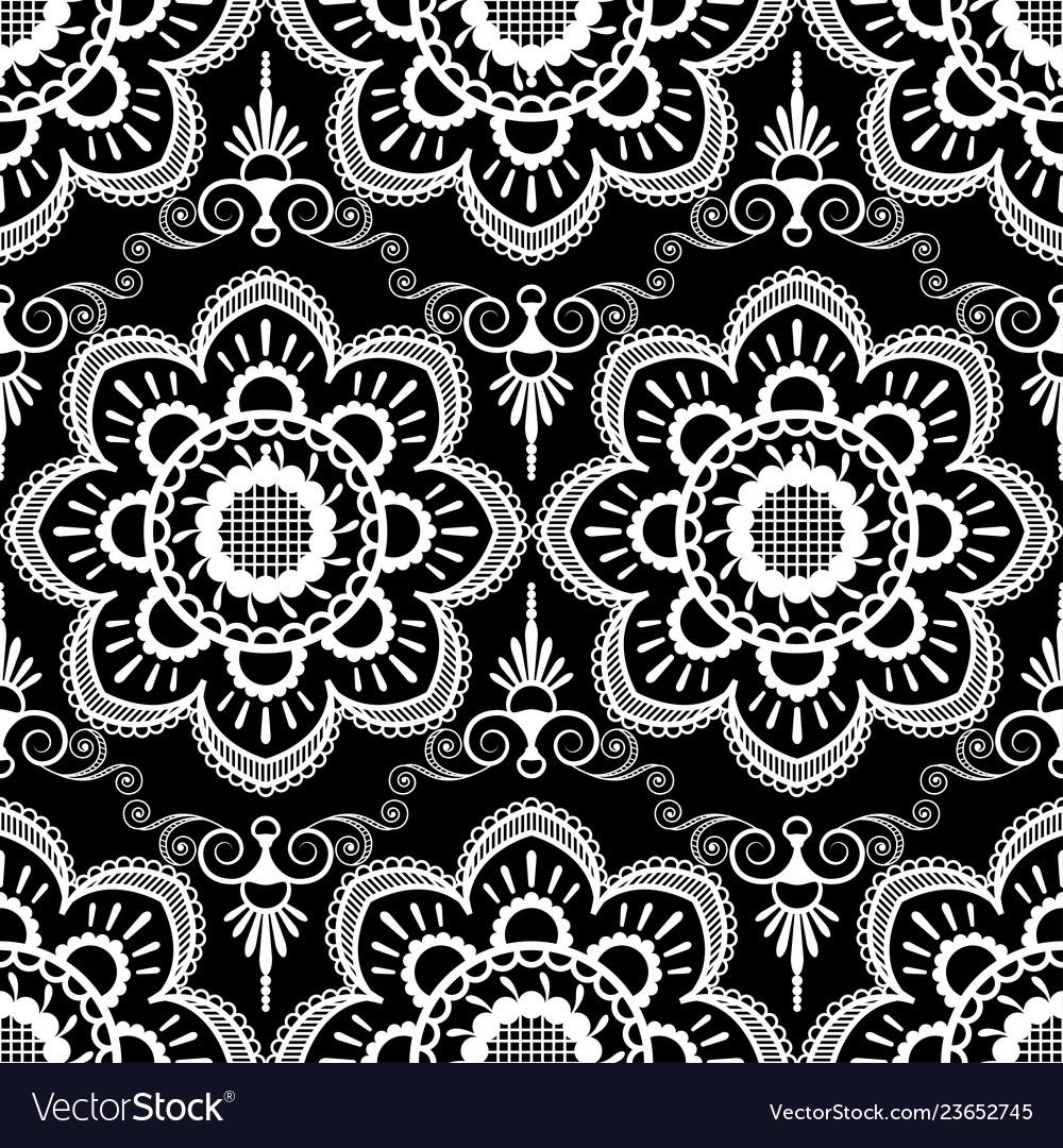 Background pattern with white mehndi seamless