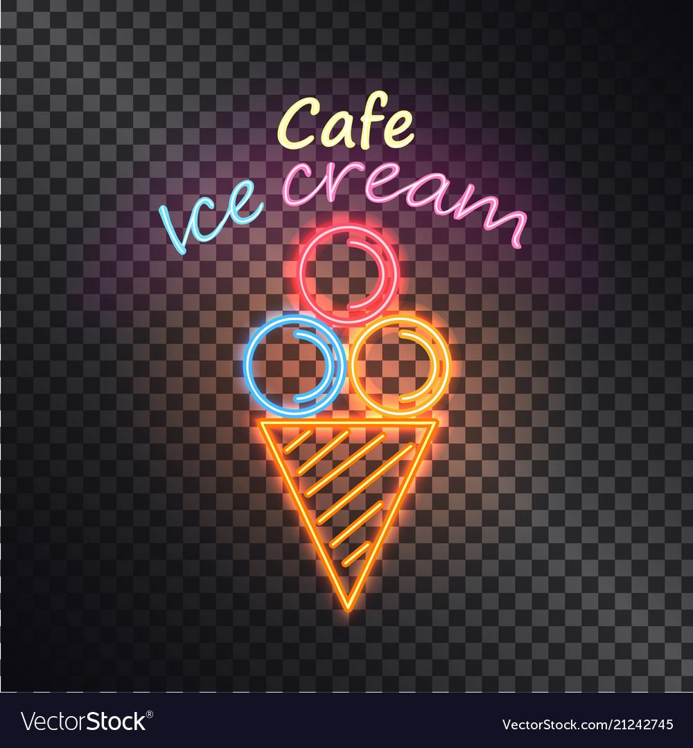 Cafe ice cream multiclored