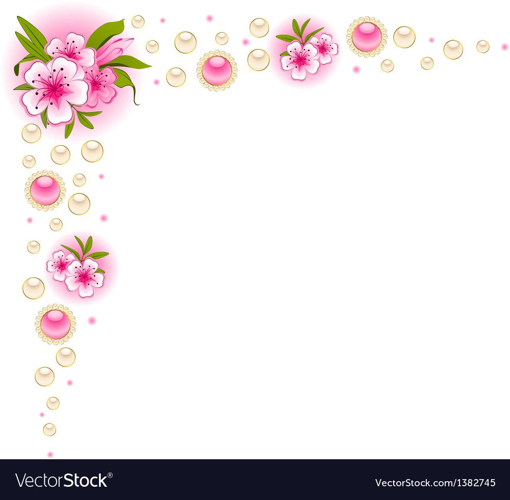 floral frame background royalty free vector image