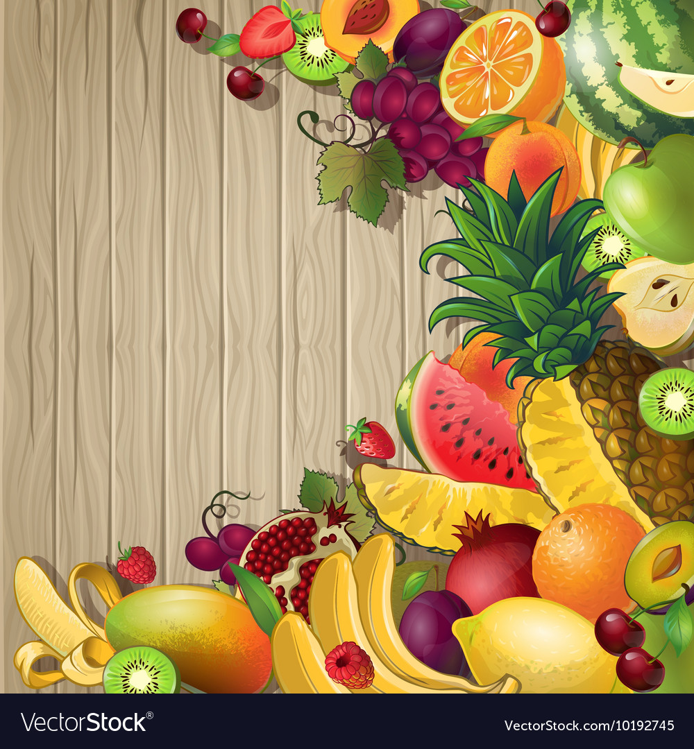Fruits Colored Background