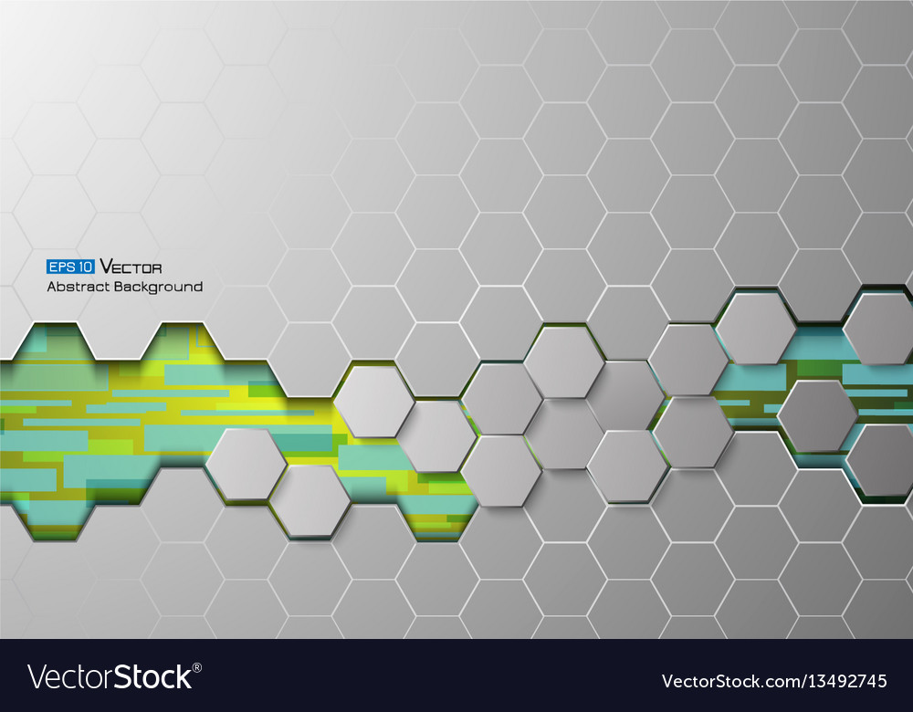 Hexagons and rectangles 1 vector image
