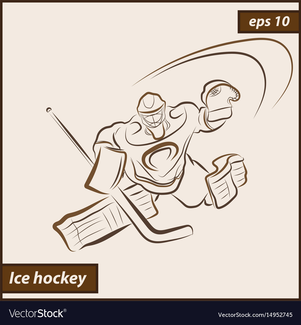 Shows a hockey