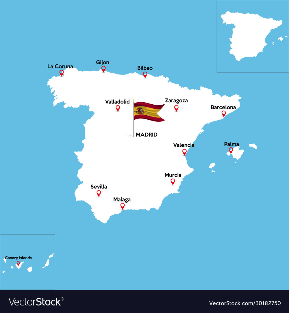 Abstract color map spain country