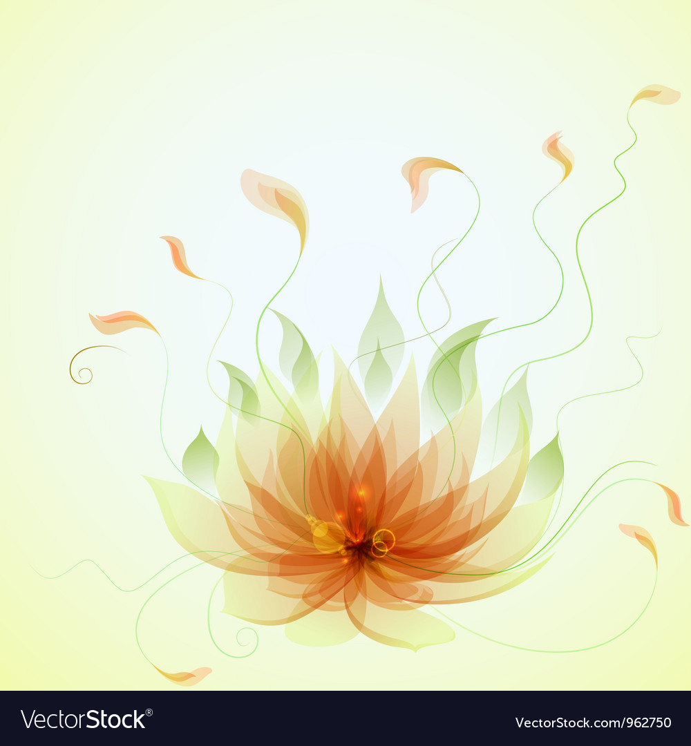 Abstract Yellow Lotus Flower Royalty Free Vector Image