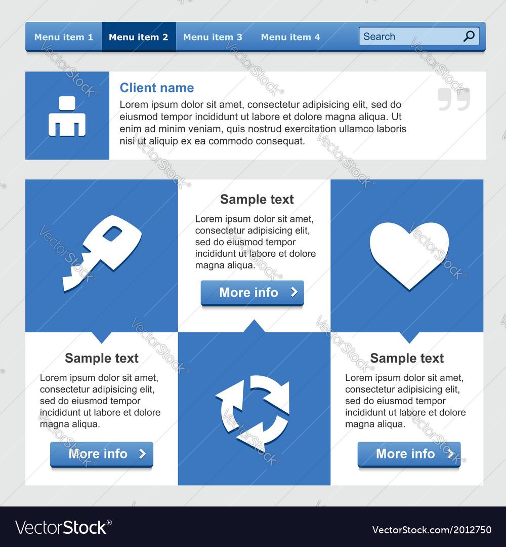 Flat web design elements set