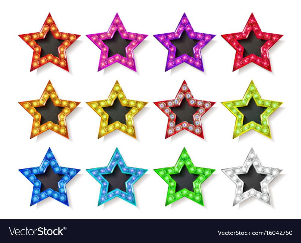 Full color gold star icons