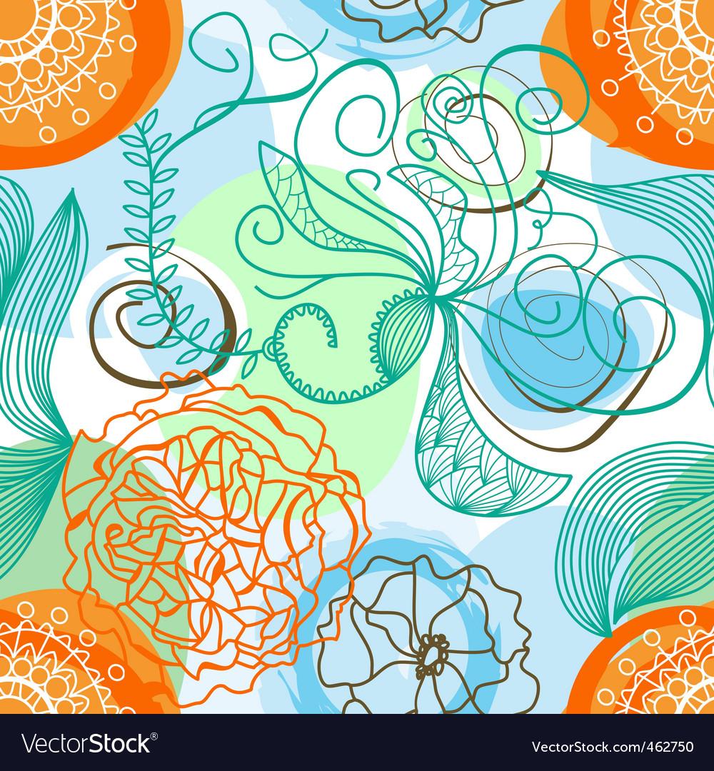 Funky floral pattern