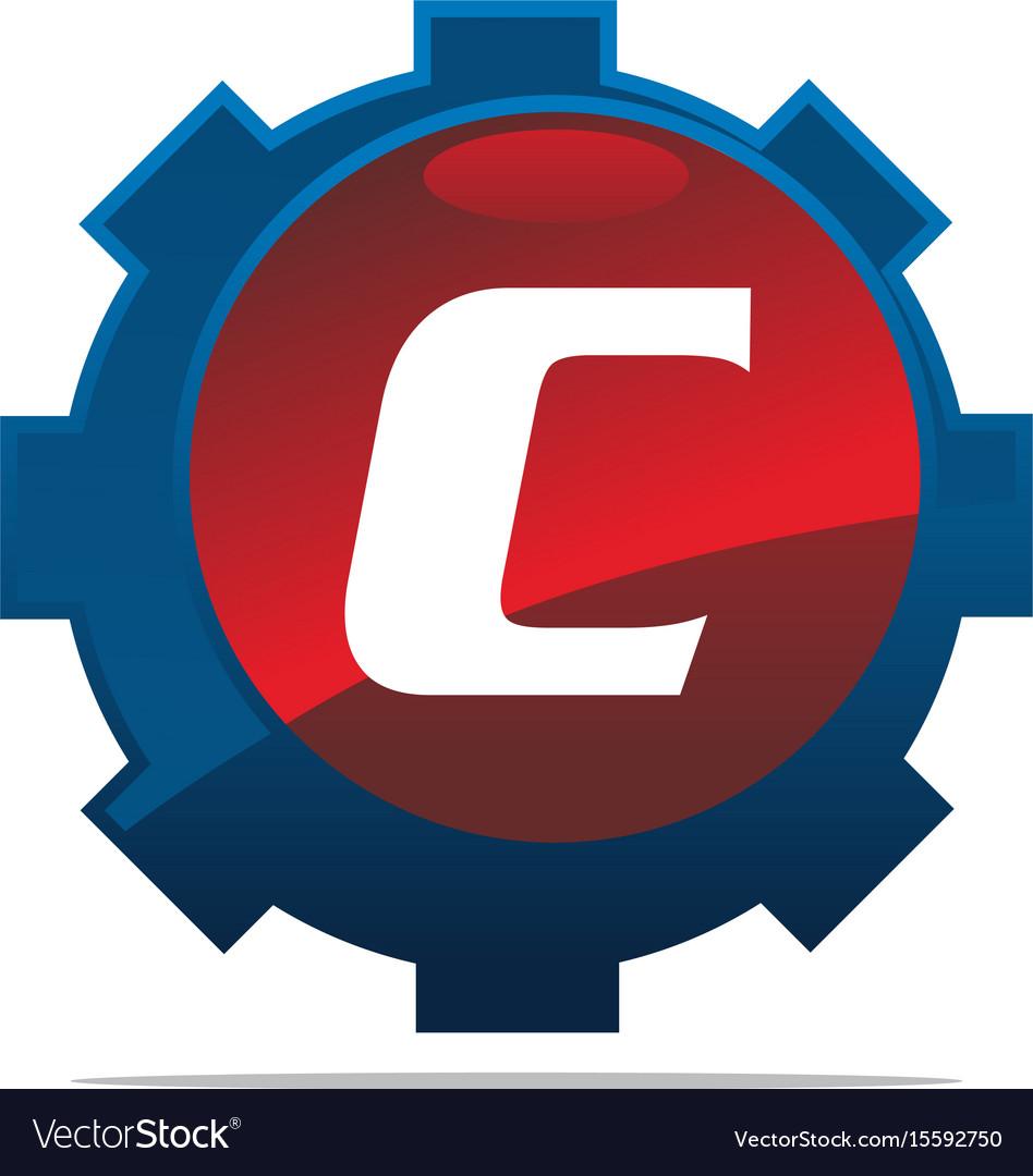 Gear logo letter c