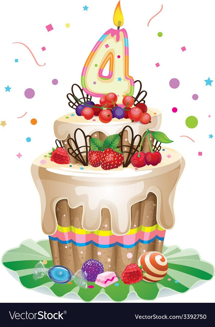 Strange Happy Birthday Cake 4 Royalty Free Vector Image Personalised Birthday Cards Epsylily Jamesorg