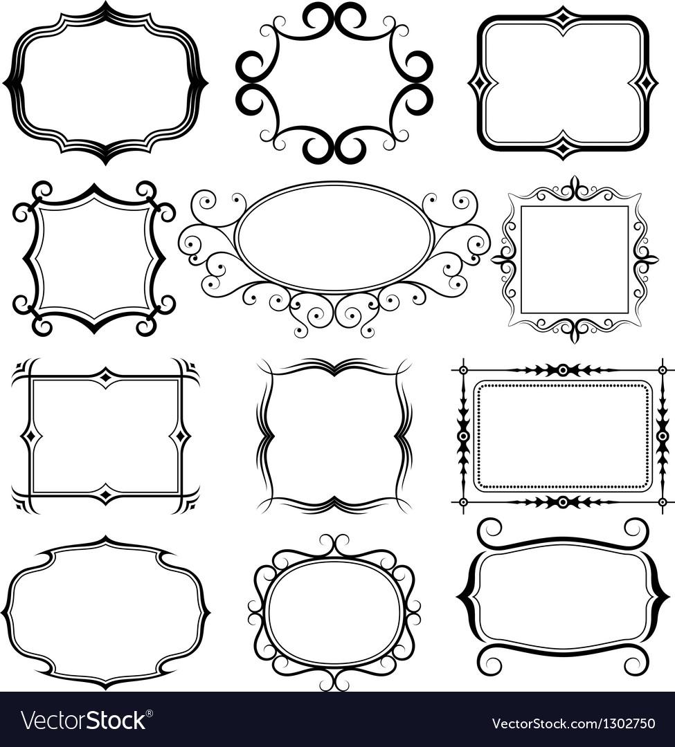 Ornate frames set