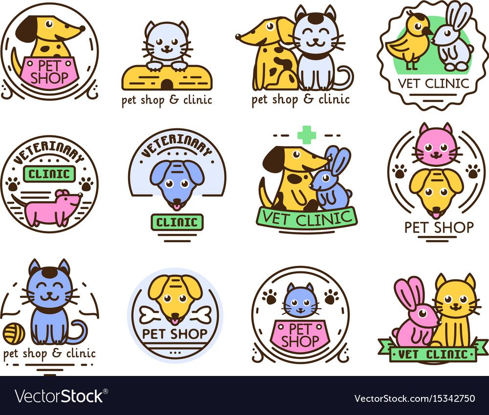 Pet badge graphic sticker set domestic