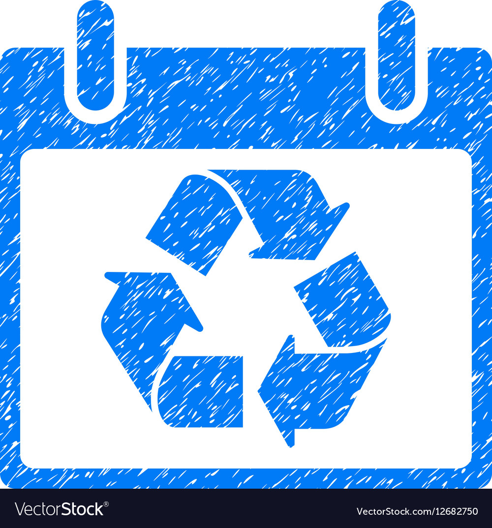 Recycle Calendar Day Grainy Texture Icon