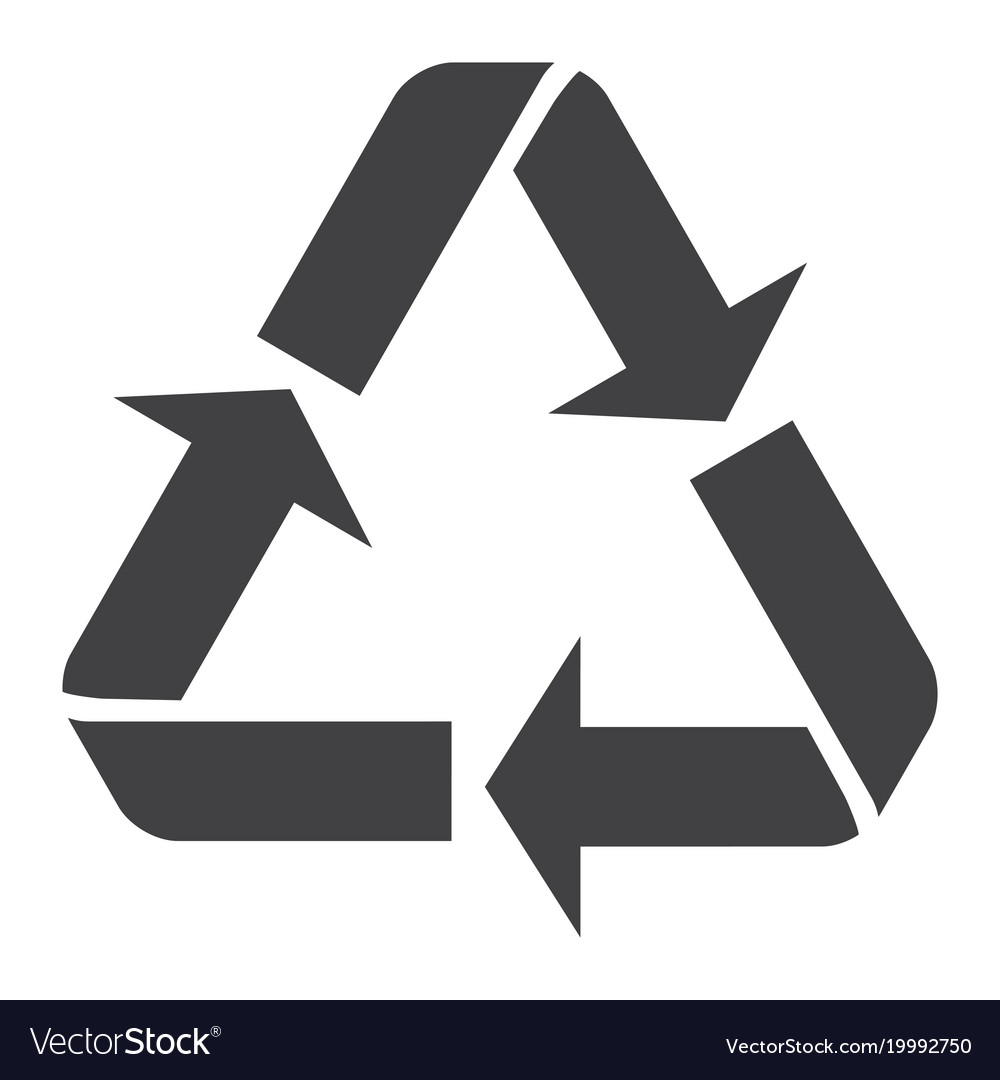 Recycle Symbol Glyph Icon Eco And Delivery Vector Image