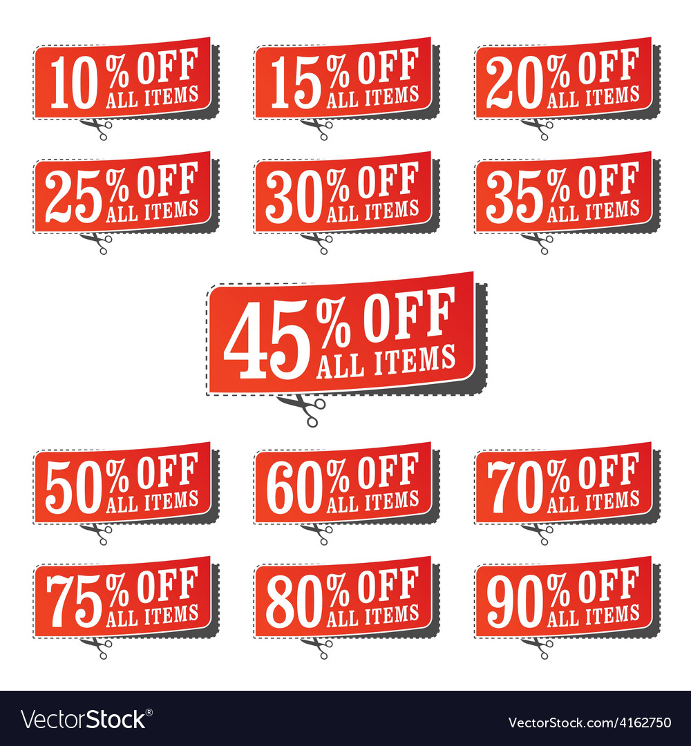Retail Coupons vector image