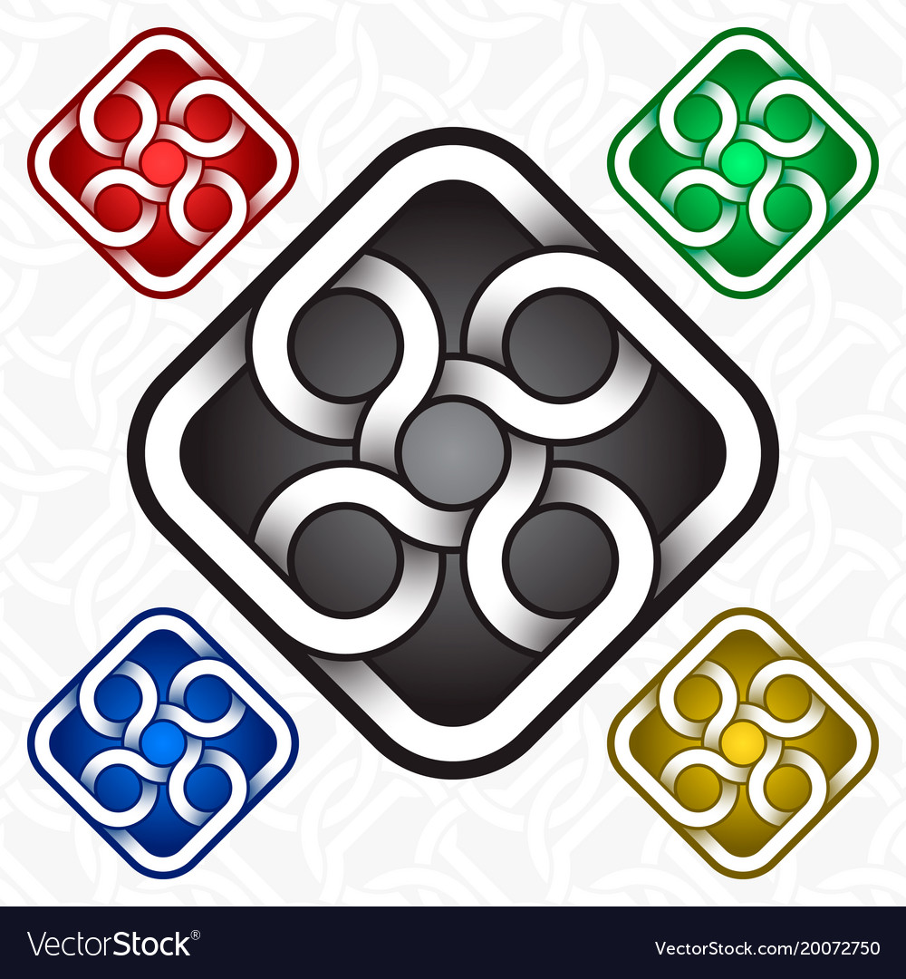 Rhombus Logo Template In Celtic Knots Style Vector Image