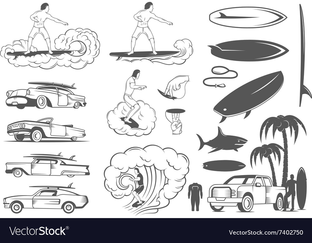 Set Elements of Surfing and Extreme Sports