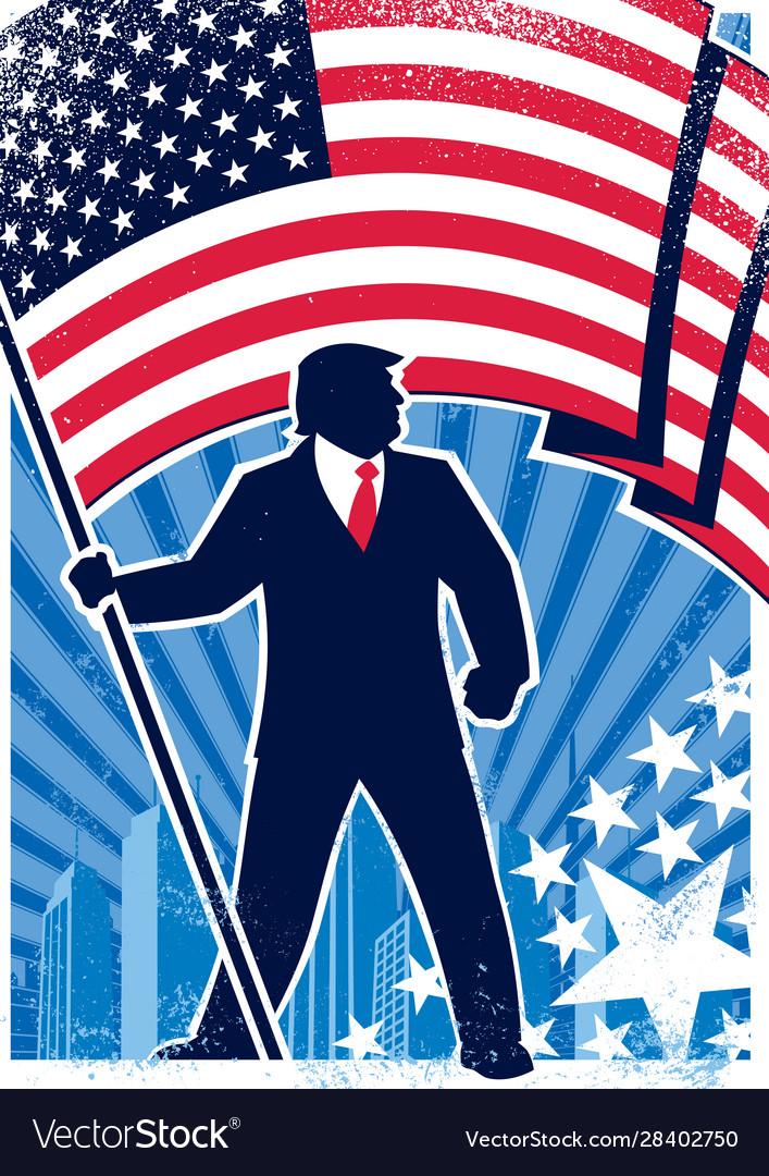 Trump usa background vertical