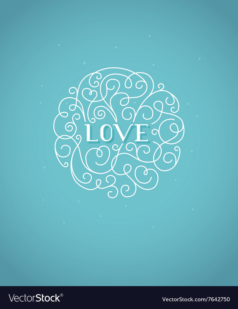 Valentines day greeting card design template with vector image