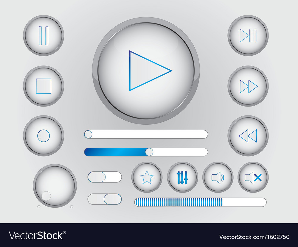 Web buttons and switchers
