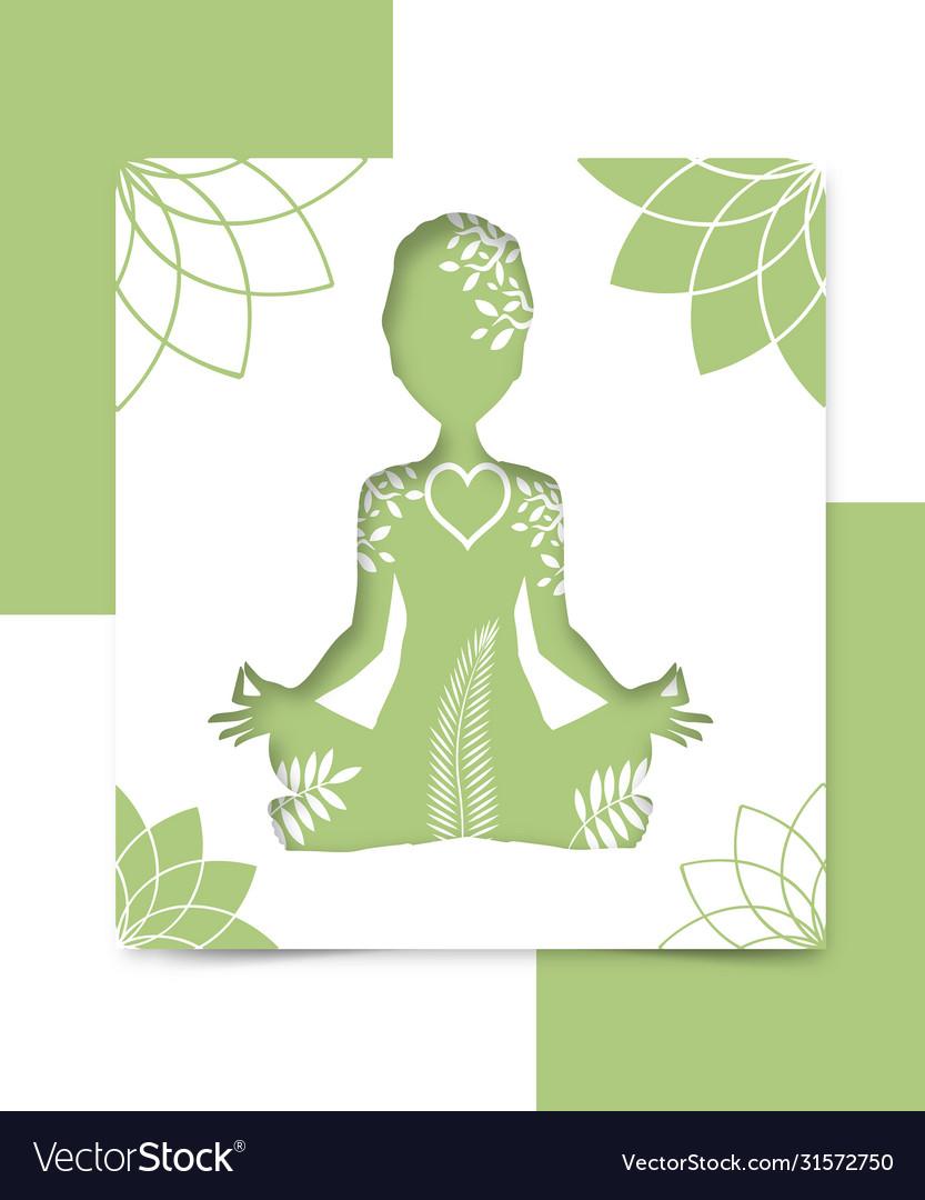 Woman yoga beautiful background