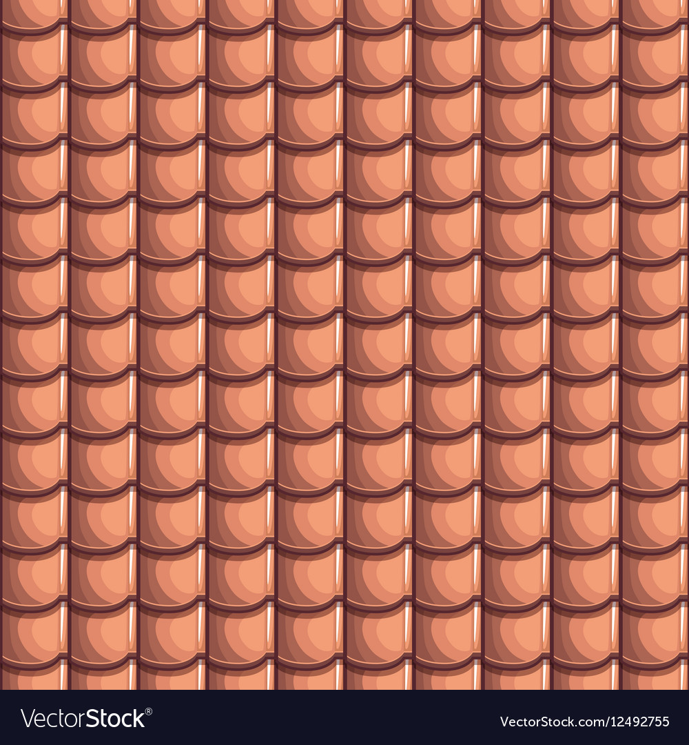 Cartoon Roof Tiles Seamless Background Vector Image