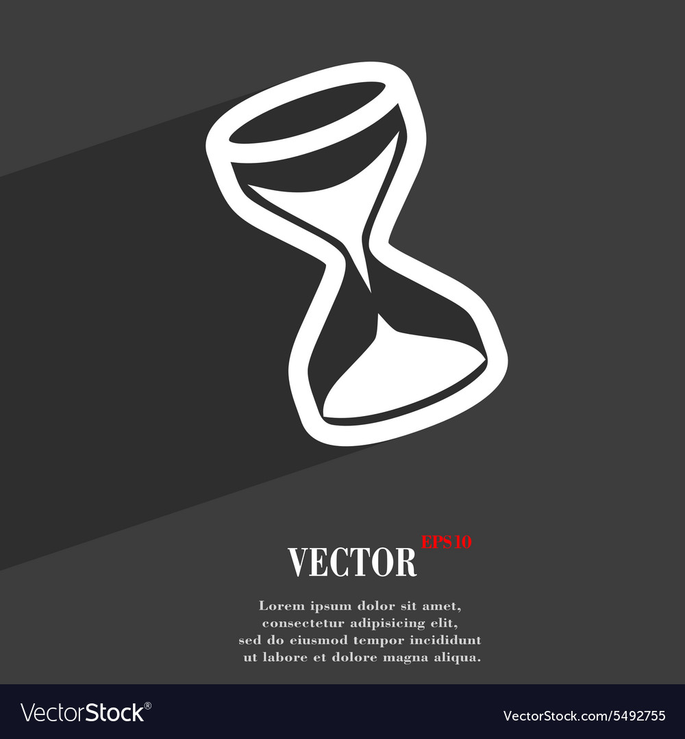 Hourglass icon symbol Flat modern web design with