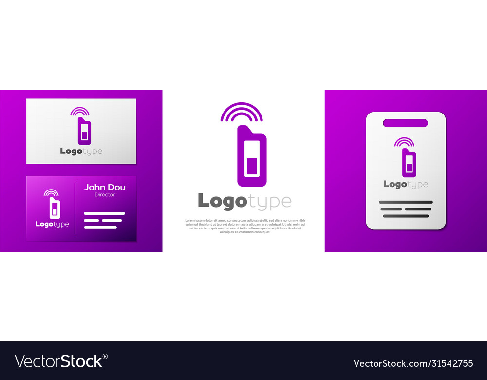 Logotype Car Key With Remote Icon Isolated On Vector Image