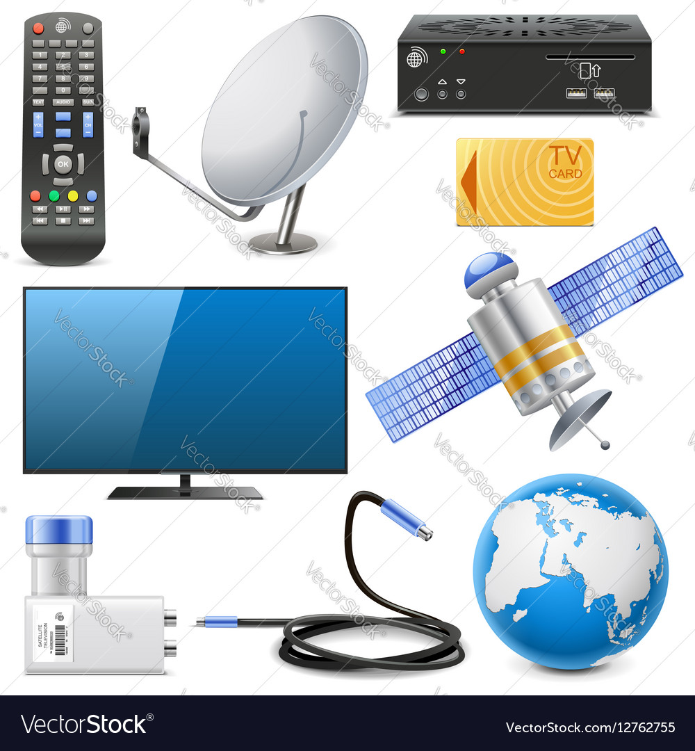 Satellite Television Icons