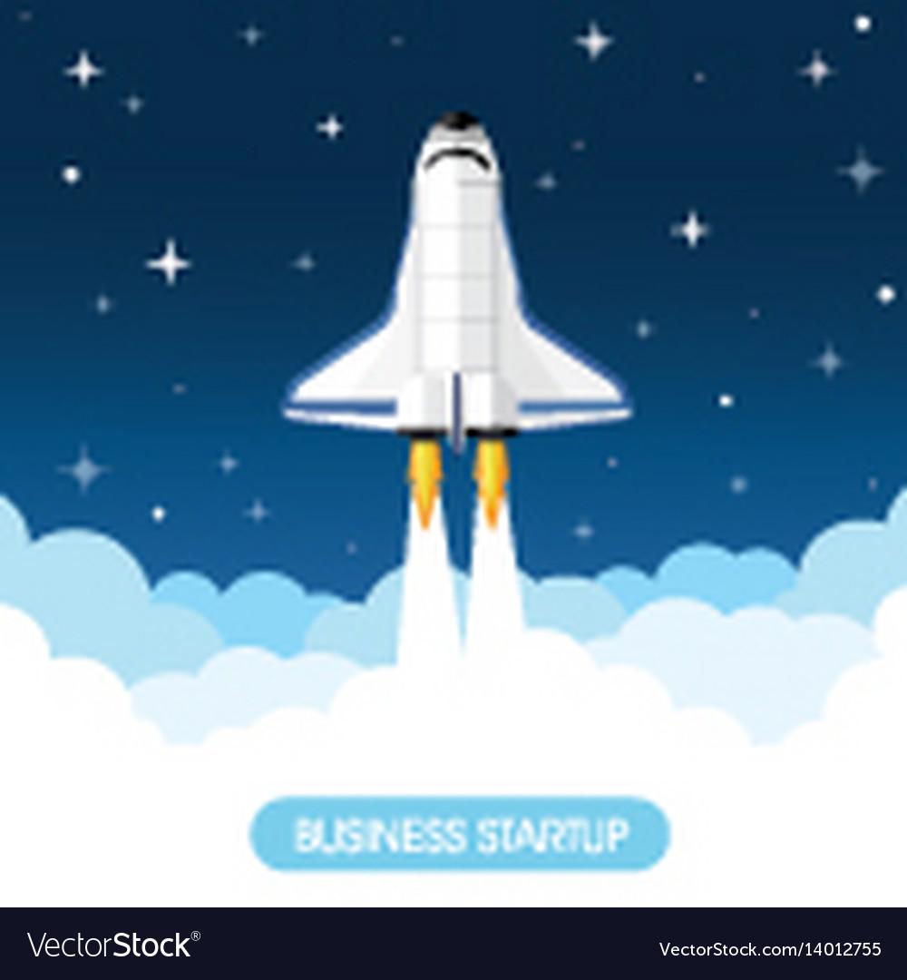 Space rocket vector image