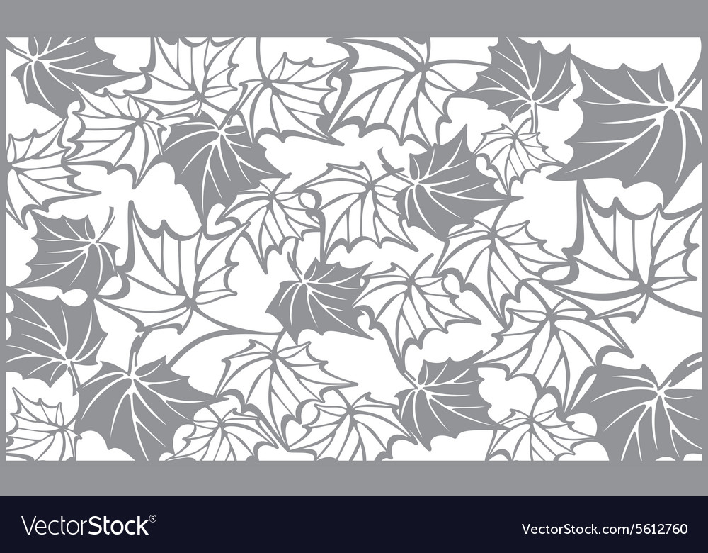 Autumn pattern with maple leaves Template for