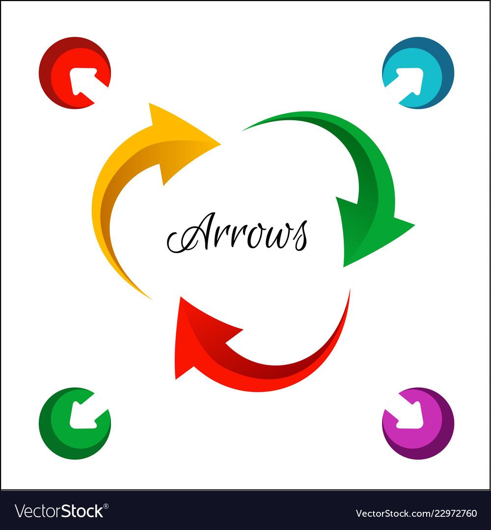 Bright circle arrows flow icon