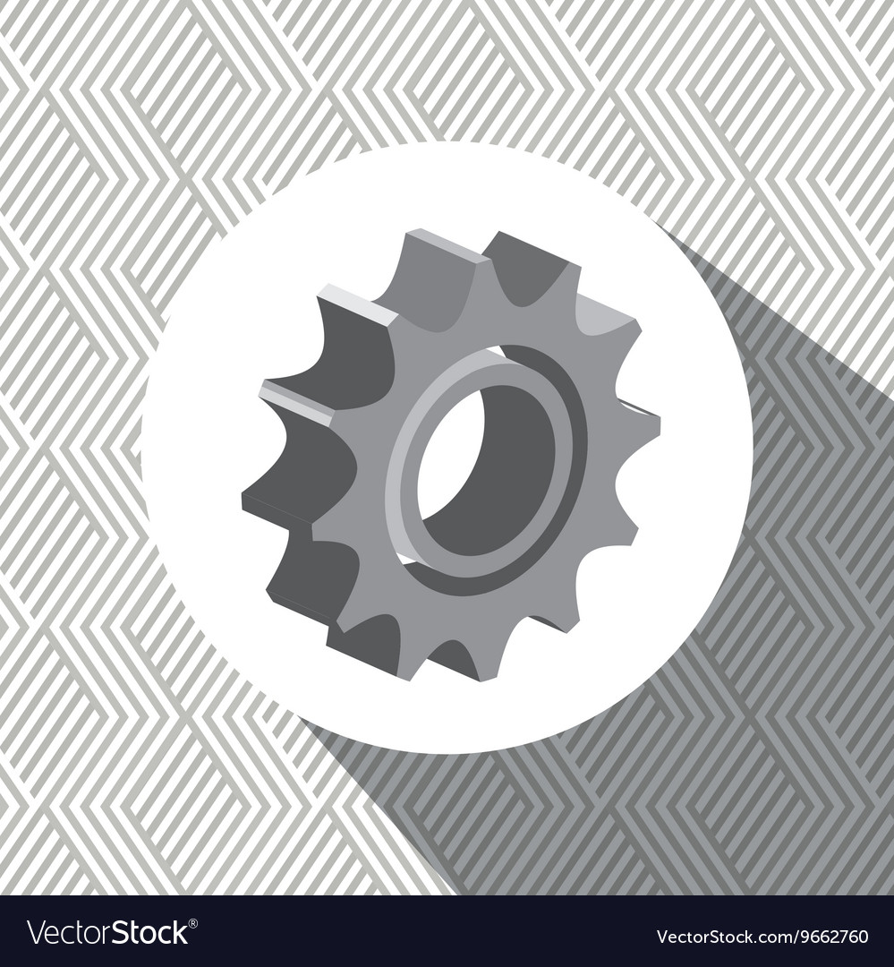 Gear isometric isolated icon design