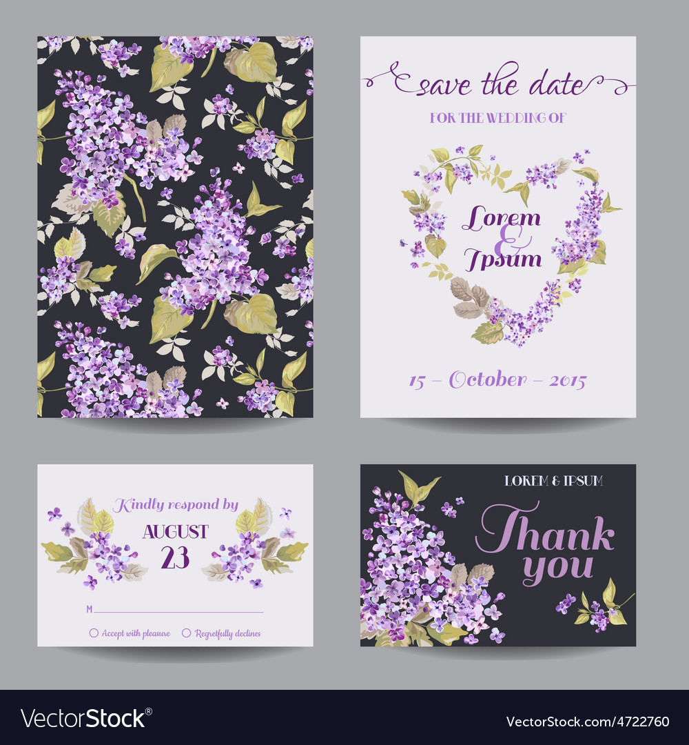 Invitation or Greeting Card Set