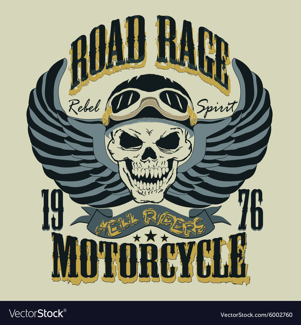 Motorcycle T-shirt Design vector image