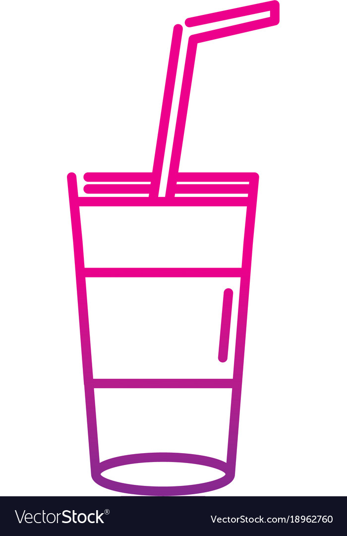 neon silhouette smoothie beverage refreshness in vector image
