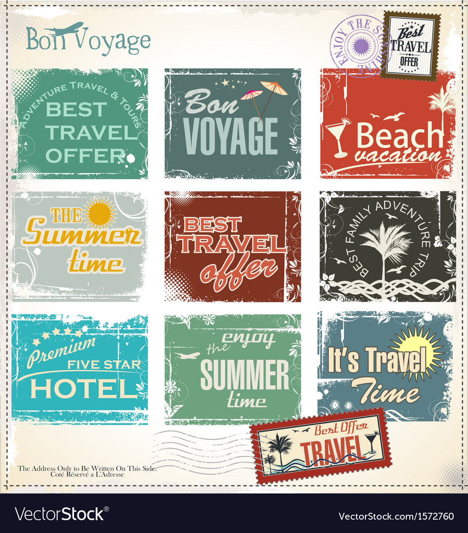 Vintage summer labels