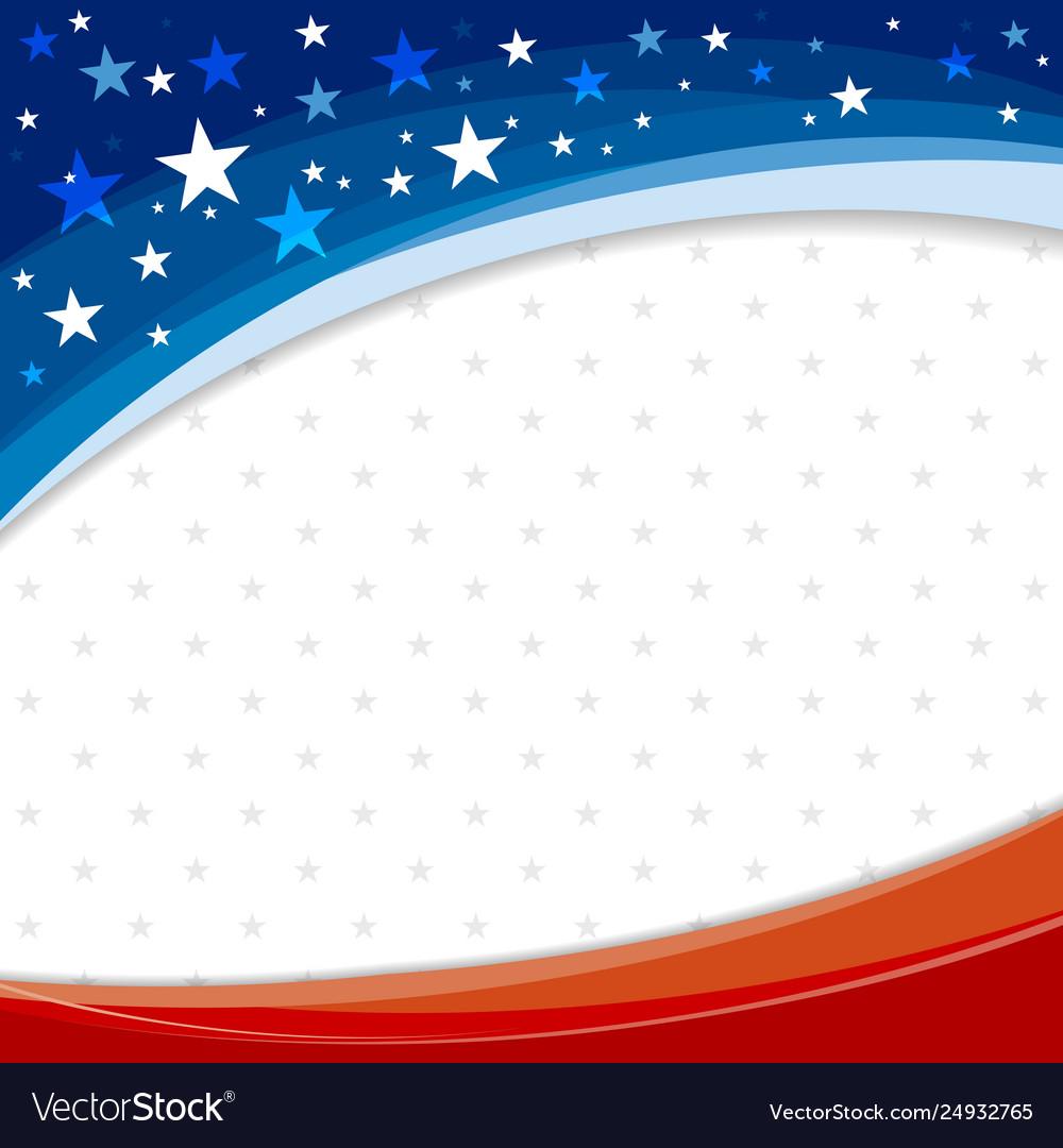 America or usa banner background design