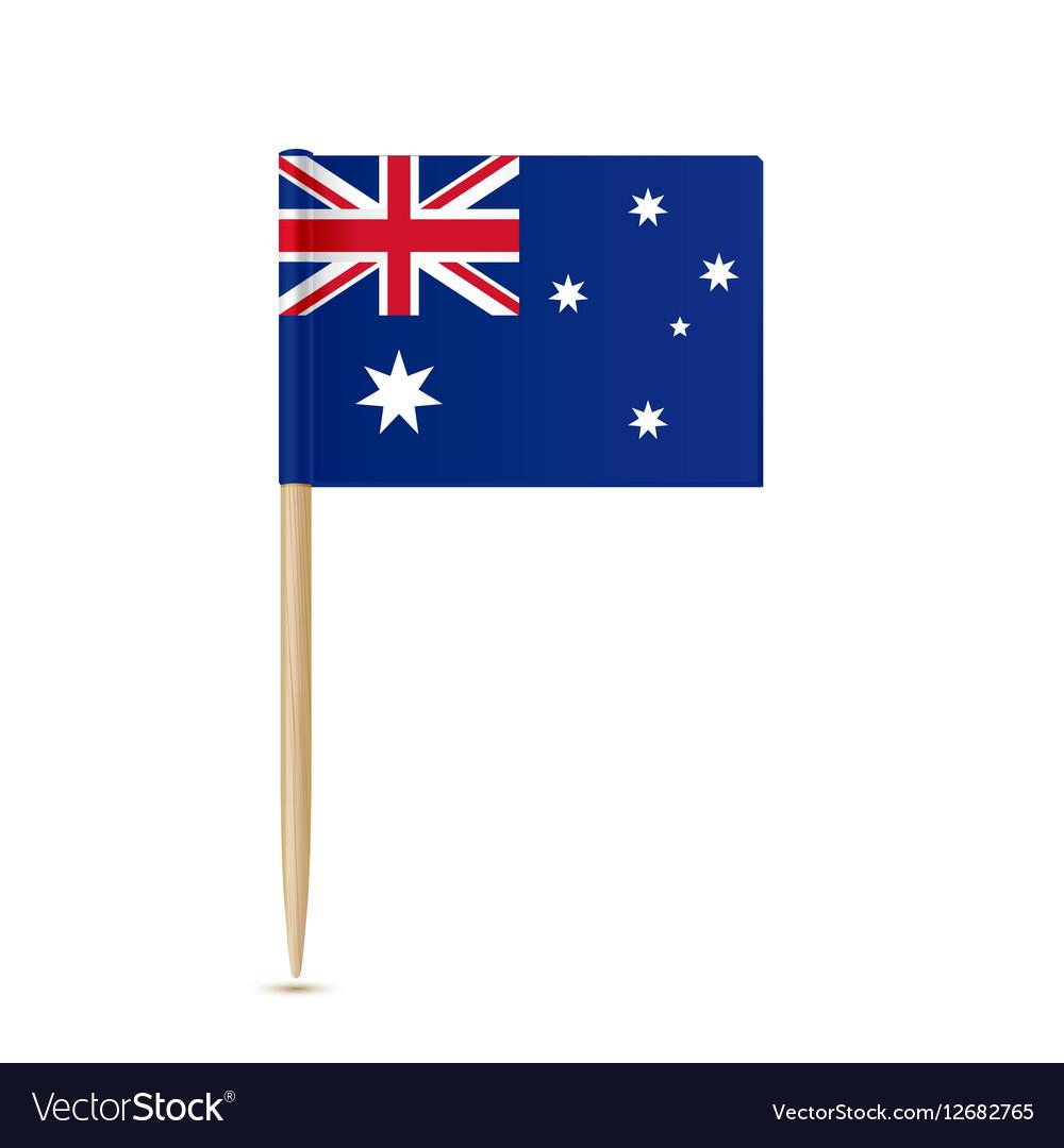 Australia flag toothpick on white background vector image