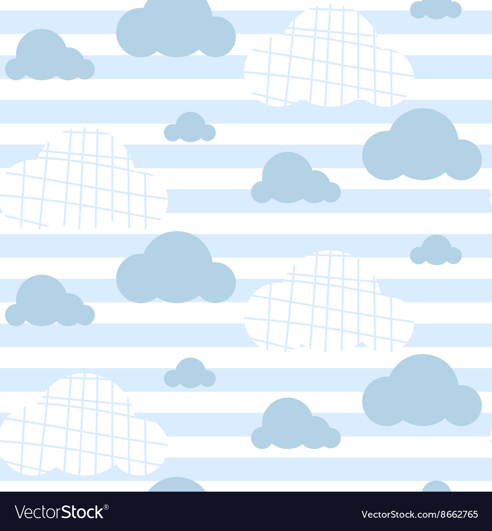 Baby boy seamless pattern Light blue fun