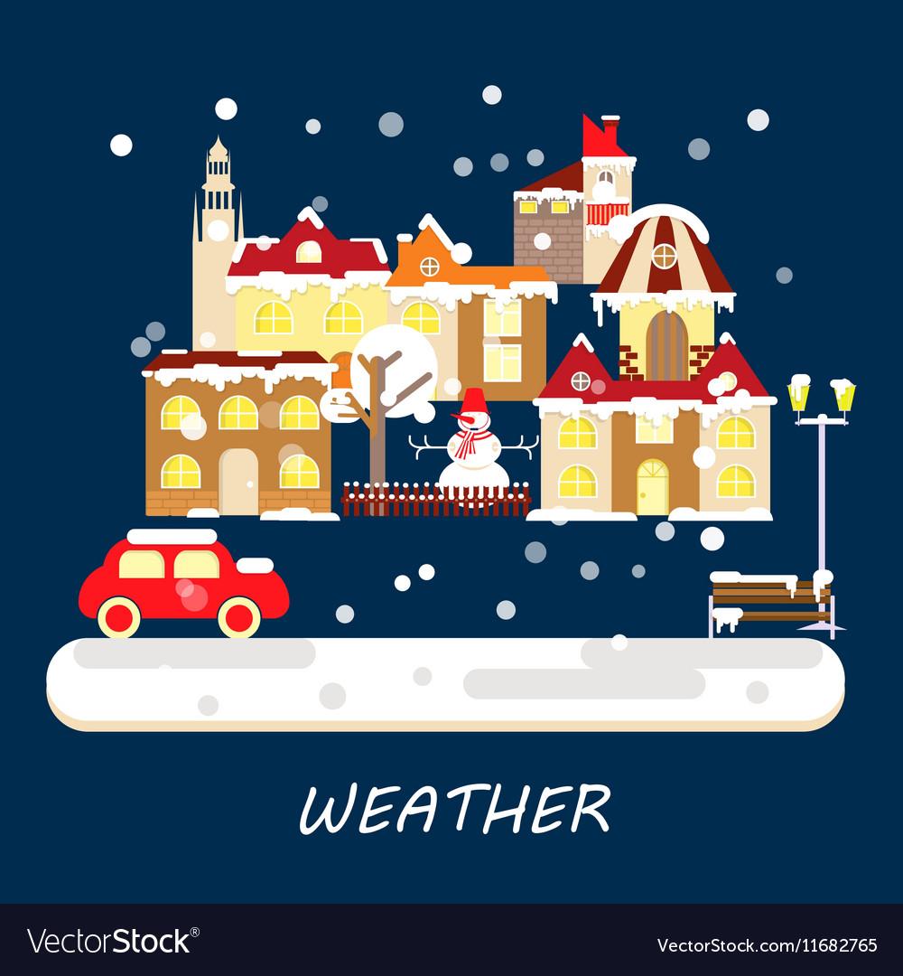 Winter weather banner vector image