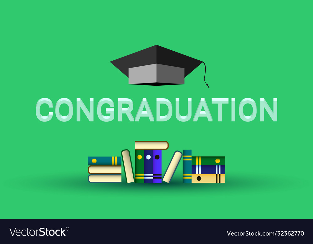 Congraduation happy graduation college student