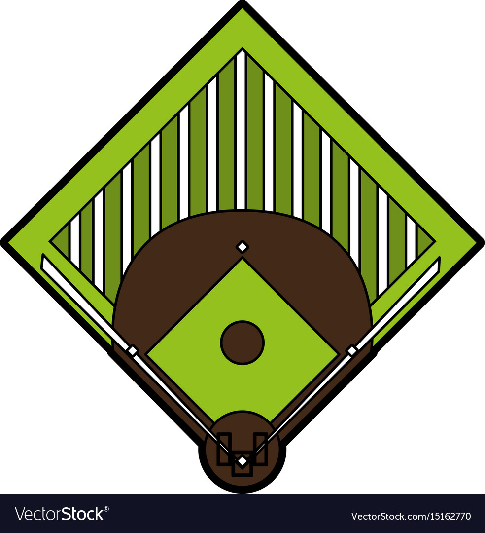 Field baseball related icon image