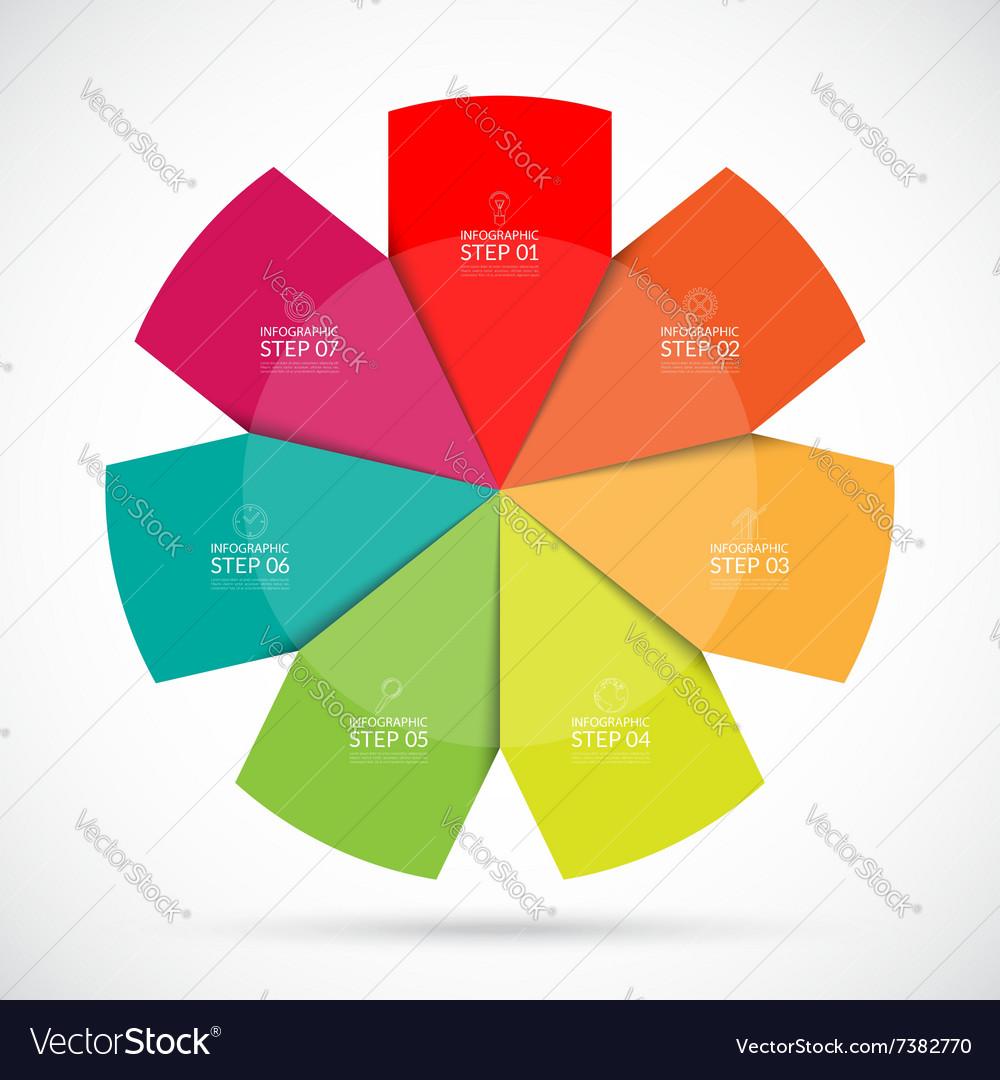 Infographic circular template