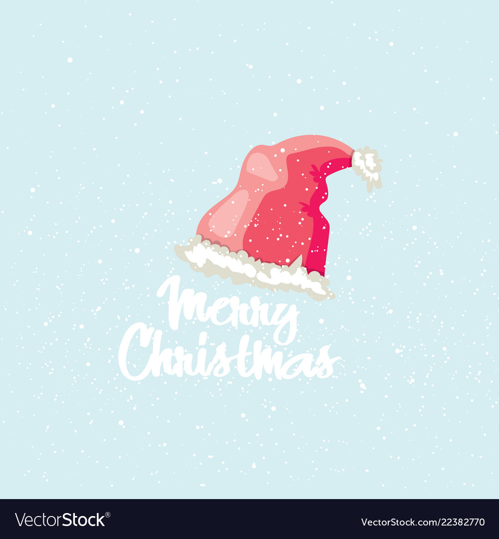 Merry christmas post card winter greeting card