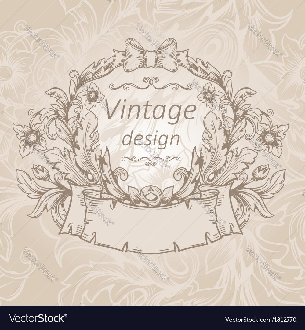 Retro vintage emblem