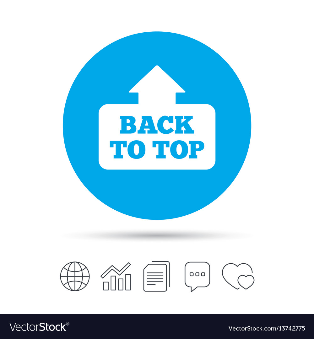 Back to top arrow sign icon scroll up symbol