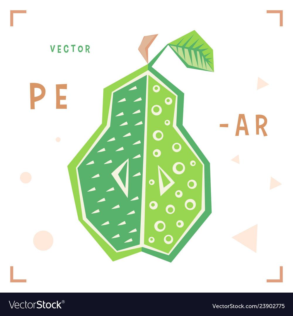 Cartoon pear cartoon pear isolated