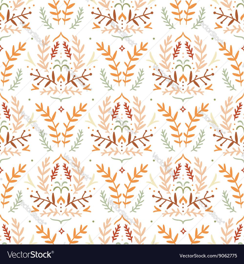 Damask style floral pattern